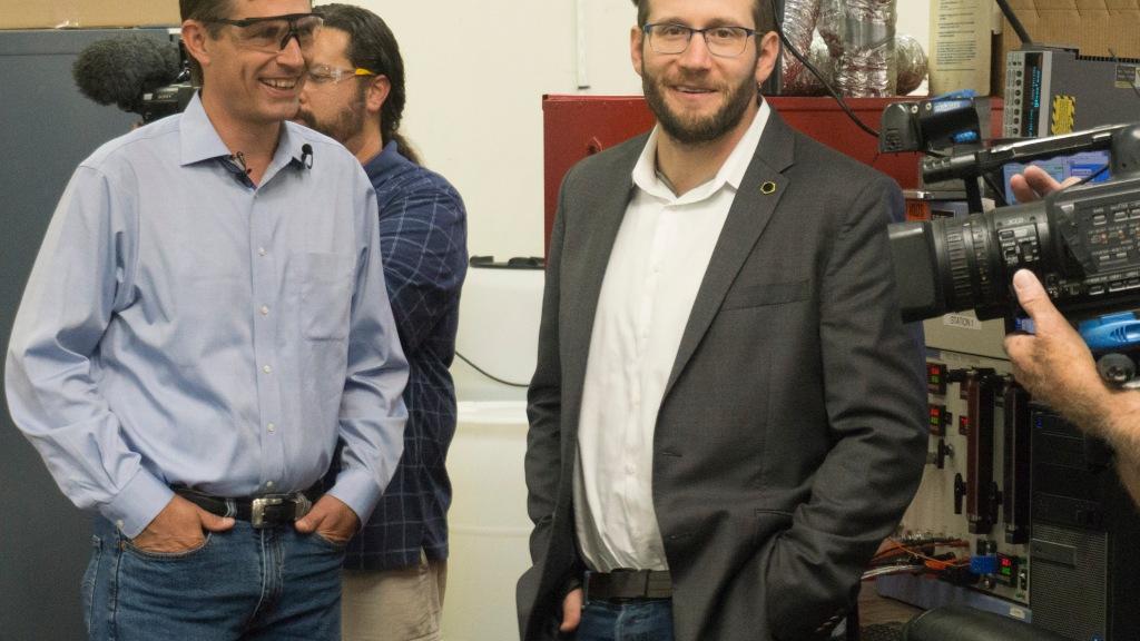 Senator Martin Heinrich & CTO Dr Barr Zulevi
