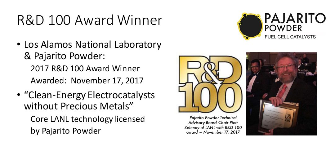 Pajarito Powder - Advanced Fuel Cell Catalyst Materials