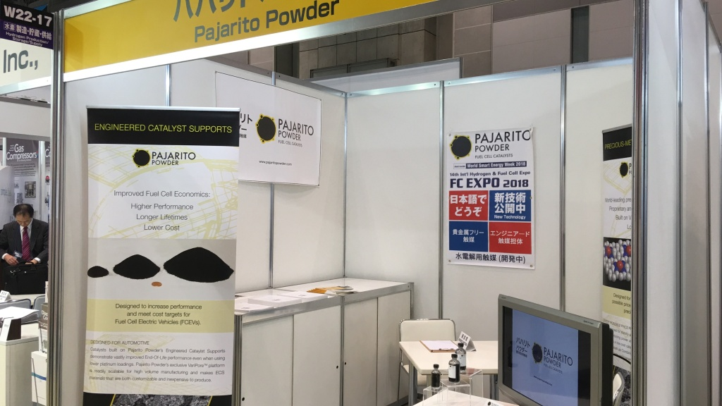 Pajarito Powder booth at FC Expo Japan