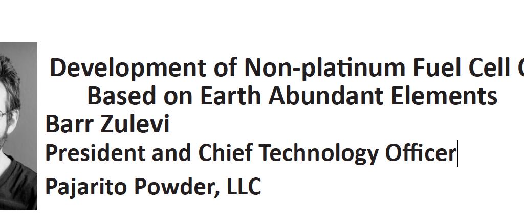 Dr Barr Zulevi, Pajarito Powder CTO presents at Rocky Mountain Catalysis Symposium